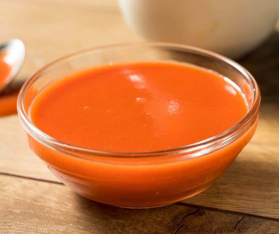 Homemade Buffalo Sauce in Bowl