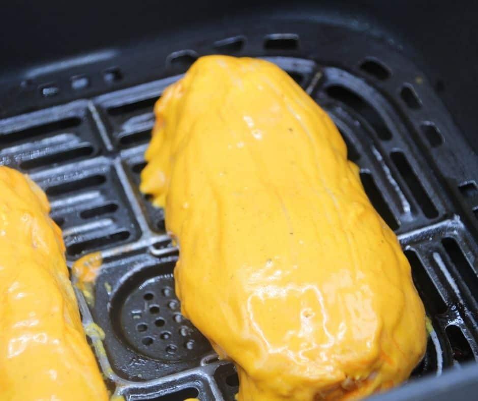 Buffalo Chicken in Air Fryer Basket