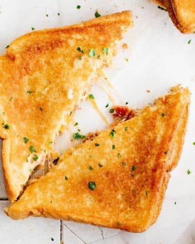 Air Fryer Jalapeño Popper Grilled Cheese