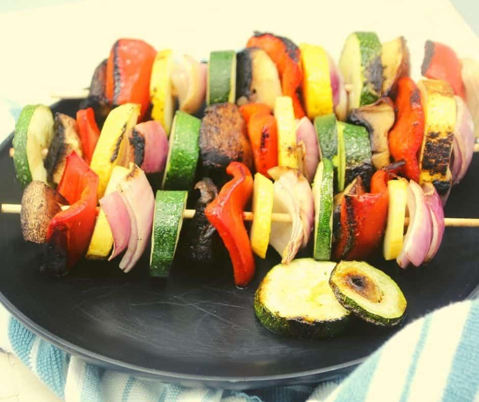 Skewer Vegetables Blackstone griddle