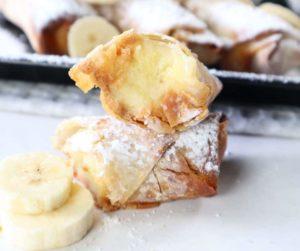 Air Fryer Peanut Butter Banana Egg Rolls