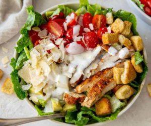Air Fryer Grilled Chicken Caesar Salad