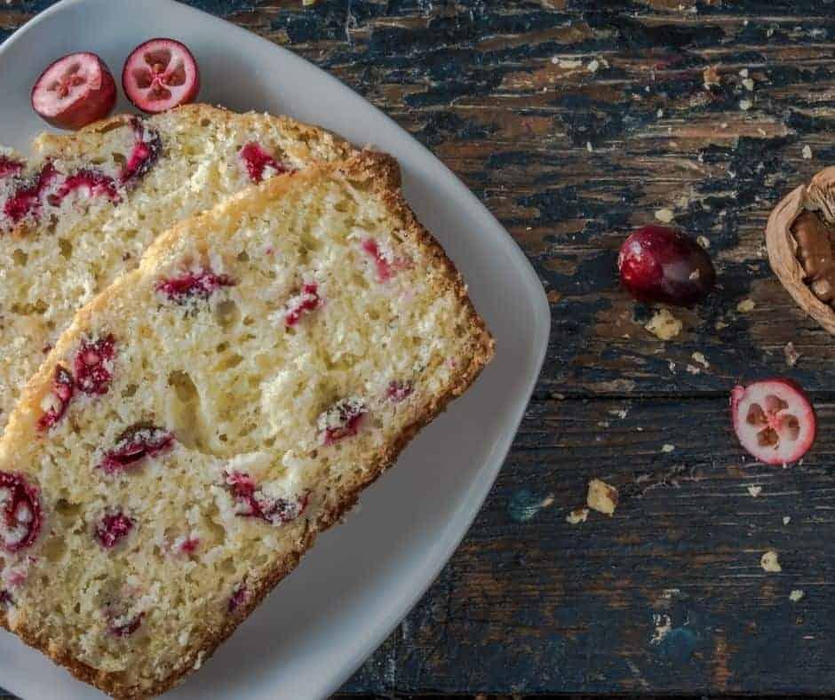 Air Fryer Cranberry Walnut Bread