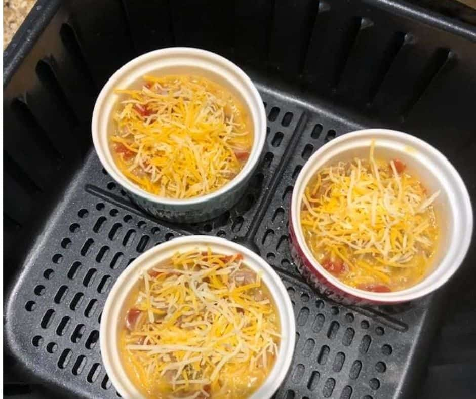 Air Fryer Breakfast Sausage in Basket