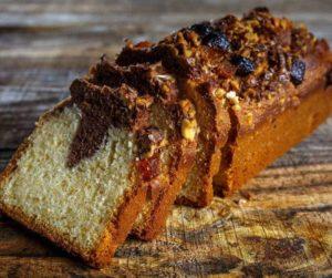 Air Fryer Marble Pound Cake