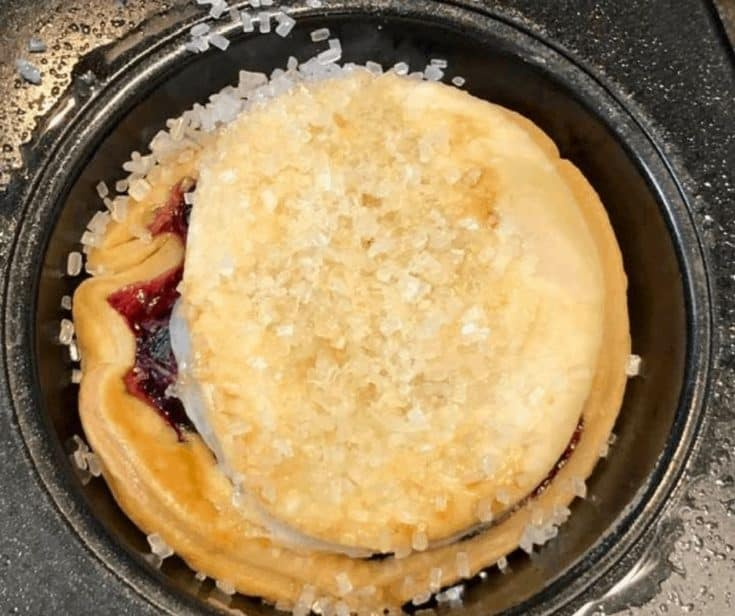 Air Fryer Mini Blueberry Pie