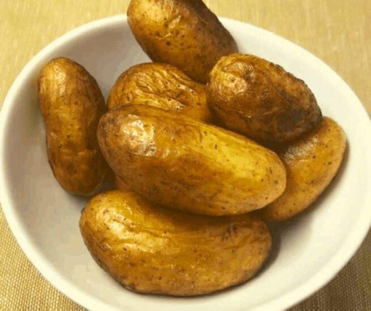 Air Fryer Roasted Fingerling Potatoes