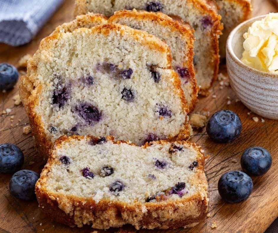 Air Fryer Blueberry Quick Bread