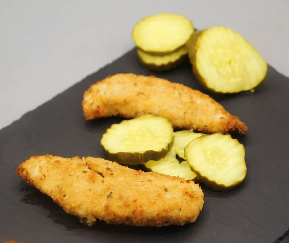 Air Fryer Pickle-Brined Chicken Tenders
