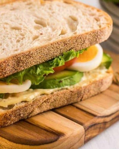 Air Fryer BLT With Hard-Boiled Eggs