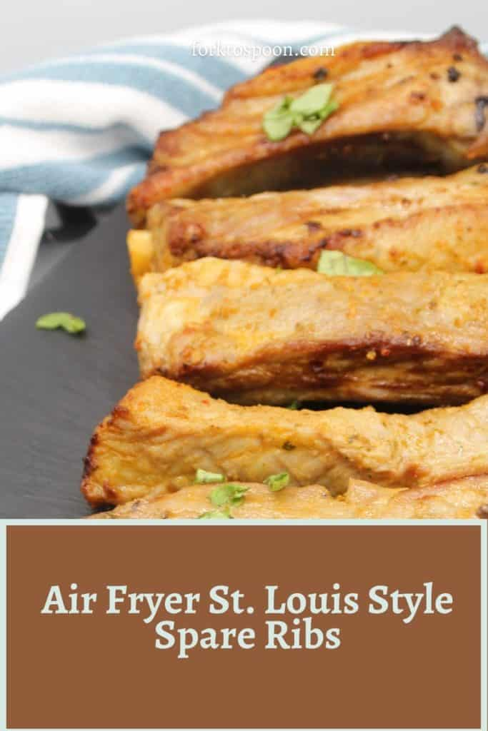 Air Fryer St. Louis Style Spare Ribs