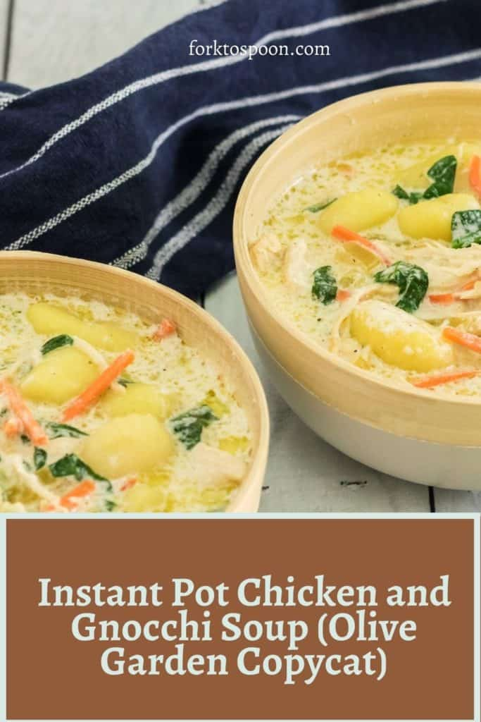Instant Pot Chicken and Gnocchi Soup (Olive Garden Copycat)