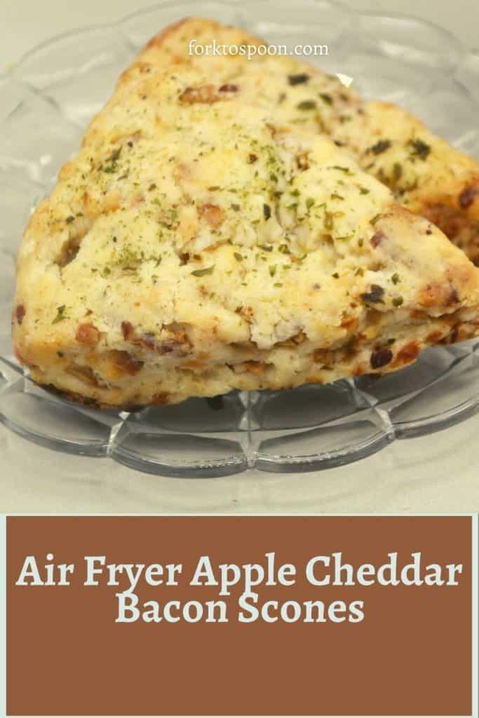 Air Fryer Apple Cheddar Bacon Scones