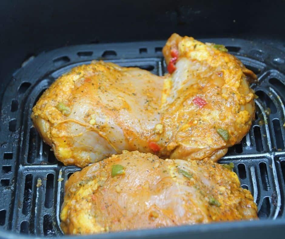 Pollo Asado in Air Fryer Basket