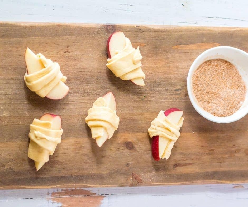 Apple Slices in Crescent Dough