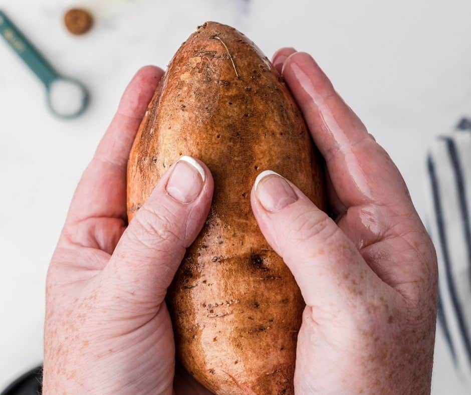Rub Sweet Potato With Olive Oil