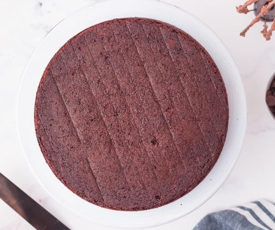 Devil's Food Cake baked