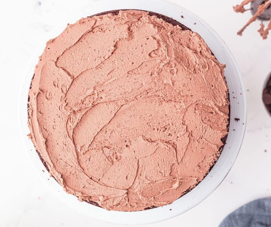 Buttercream Frosting On  Devil's Food Cake