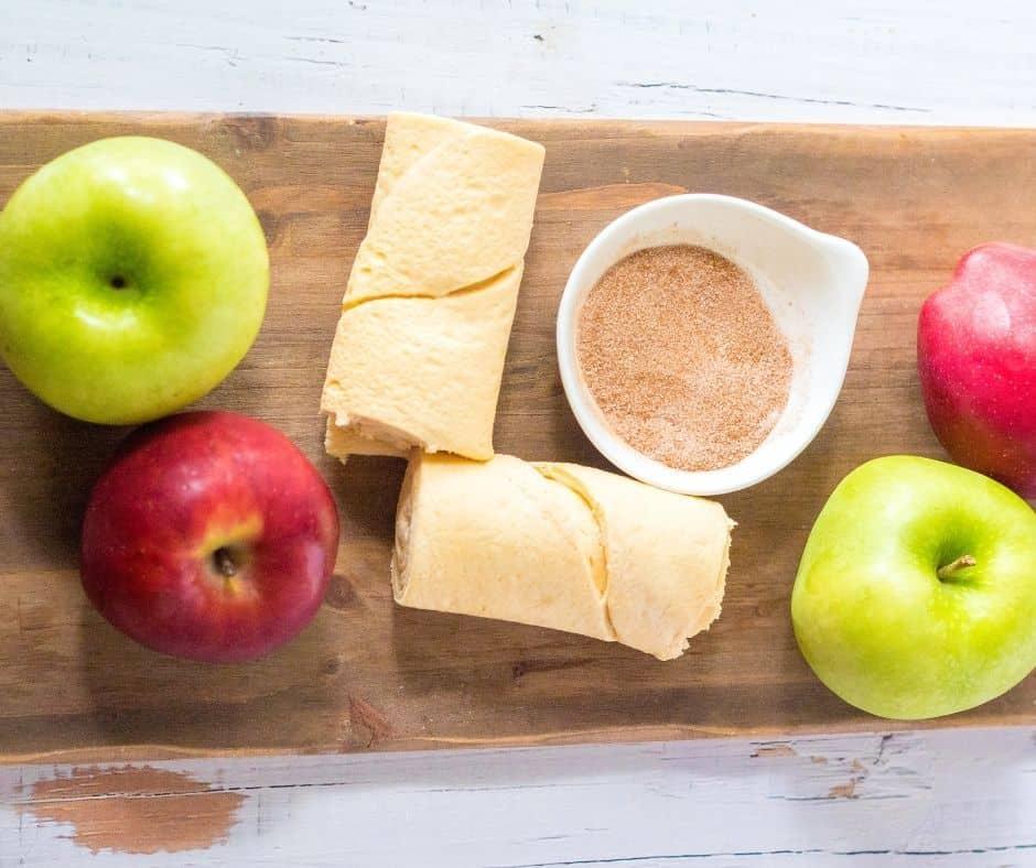 Ingredients Needed for Air Fryer Apple Pie Crescent Rolls