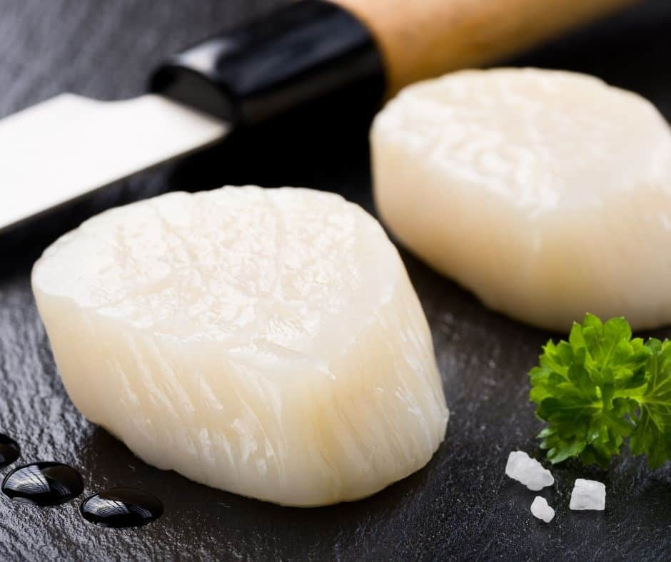 Picture of Scallop on a Cutting Board