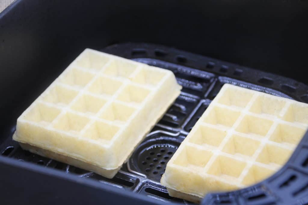 Place Frozen Waffles into the Air Fryer Basket.