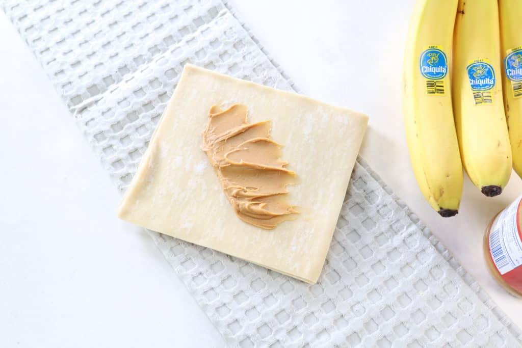 Peanut Butter on Egg Rolls
