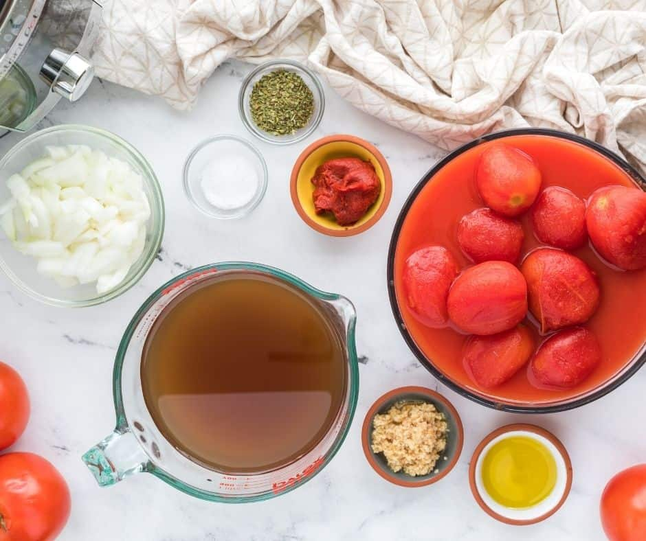 Ingredients Needed For Instant Pot Homemade Tomato Soup