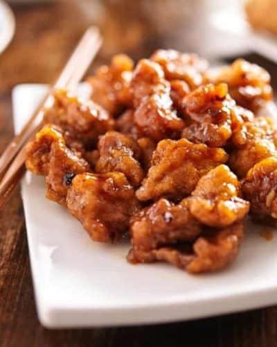Air Fryer Frozen Orange Chicken