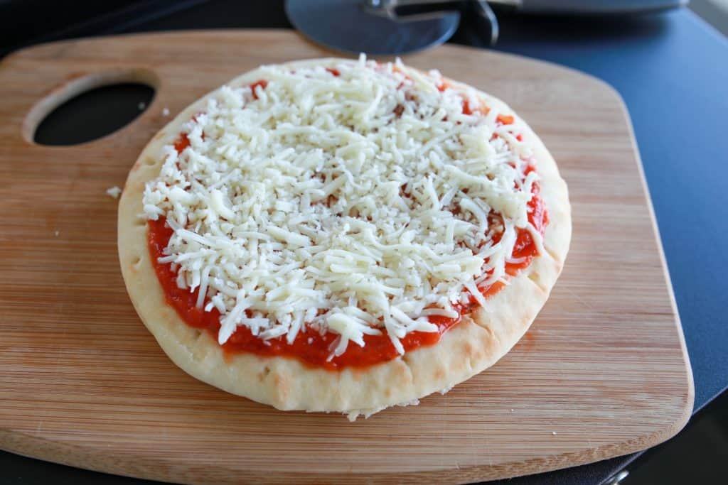Close up of Blackstone Pizza With Cheese