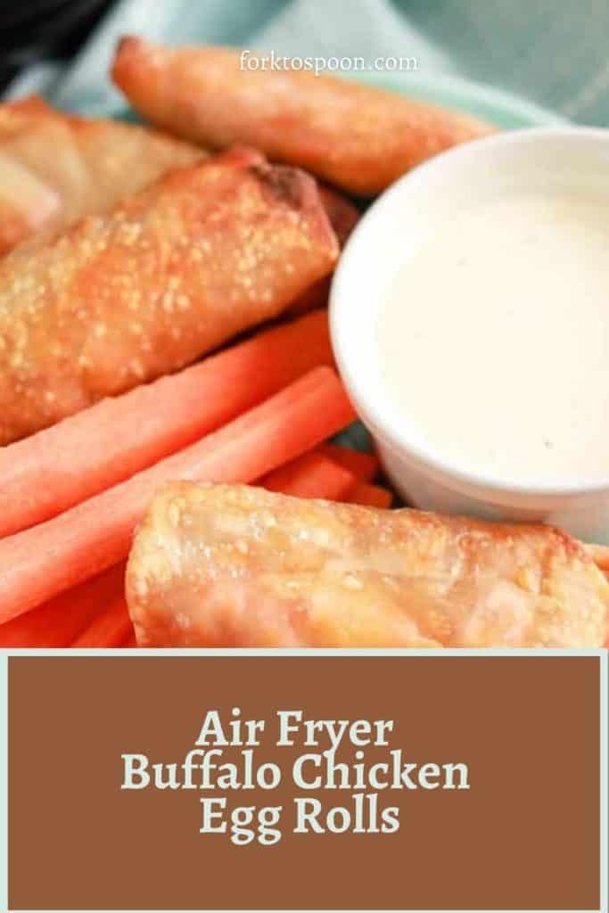 Air Fryer Buffalo Chicken Egg Rolls