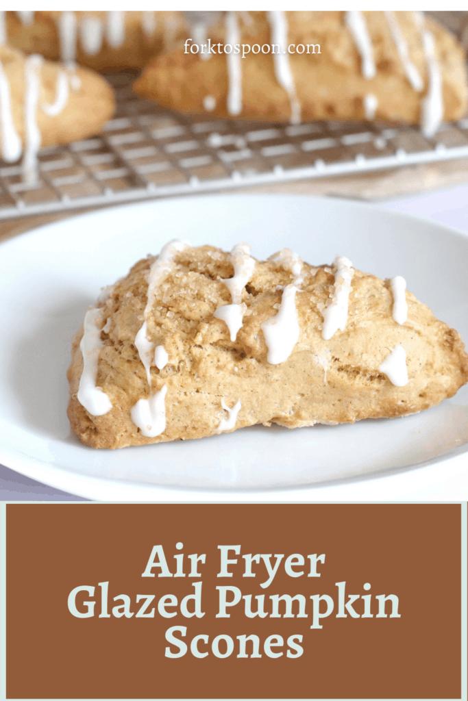 Air Fryer Glazed Pumpkin Scones