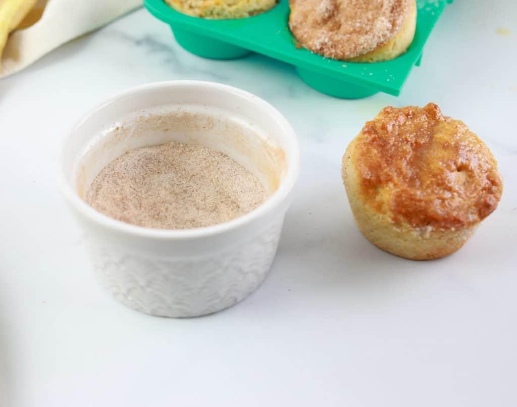 Air Fryer Cinnamon Sugar Donut Muffins