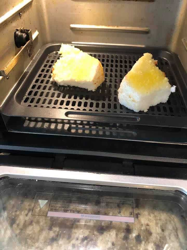Place the Cake Into the Air Fryer Oven or Basket