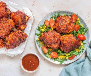 Air Fryer BBQ Chicken Thighs