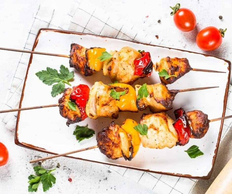 Air Fryer Buffalo Chicken Kebabs