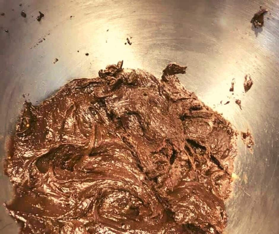 Air Fryer Chocolate Crinkle Cookie Batter