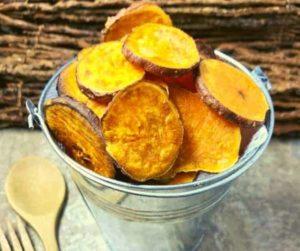 Air Fryer BBQ Sweet Potato Chips