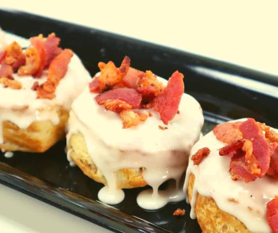 Air Fryer Bacon Salted Caramel Donuts