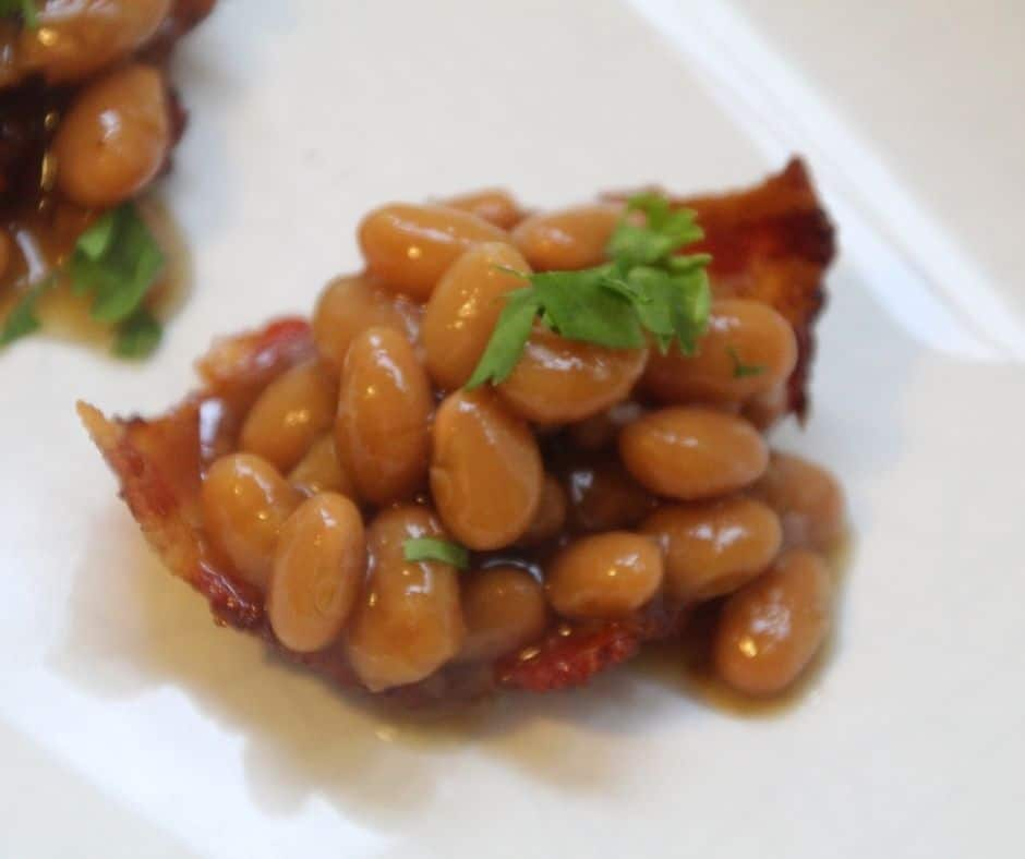 Air Fryer Baked Beans Bacon Cups