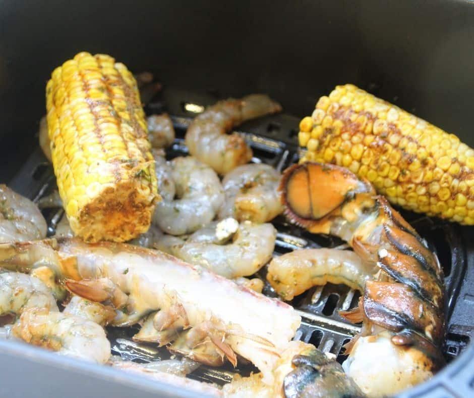 Seafood Boil in Air Fryer Basket