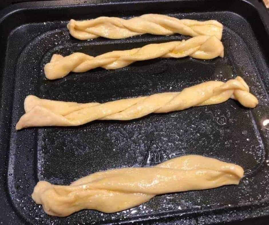 Churros Air Fryer on tray