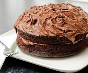 Air Fryer Homemade Devil's Food Cake