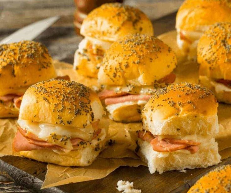 Air Fryer Hawaiian Ham and Cheese Sliders