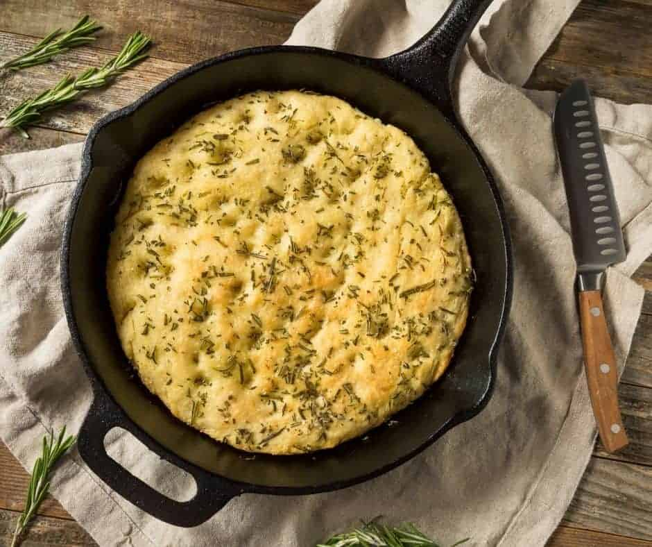 Air Fryer Garlic Herb Quick Bread