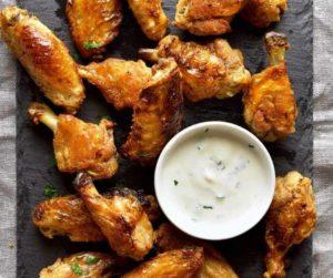 Air Fryer Salt & Vinegar Chicken Wings