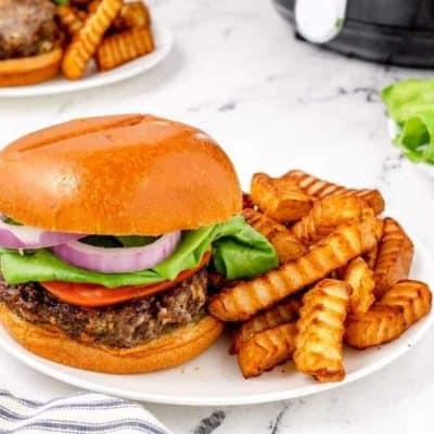 Air Fryer Blue Cheese Burgers