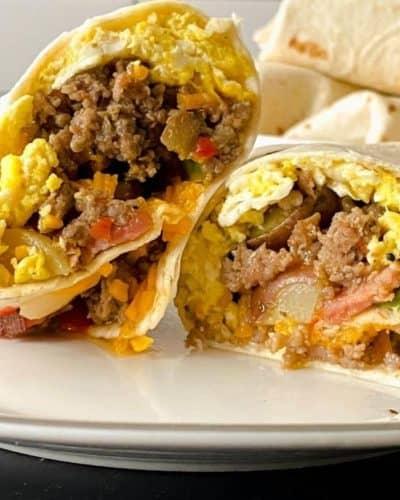 Air Fryer Breakfast Burrito