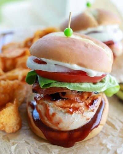 Blackstone Grilled BBQ Chicken Burgers