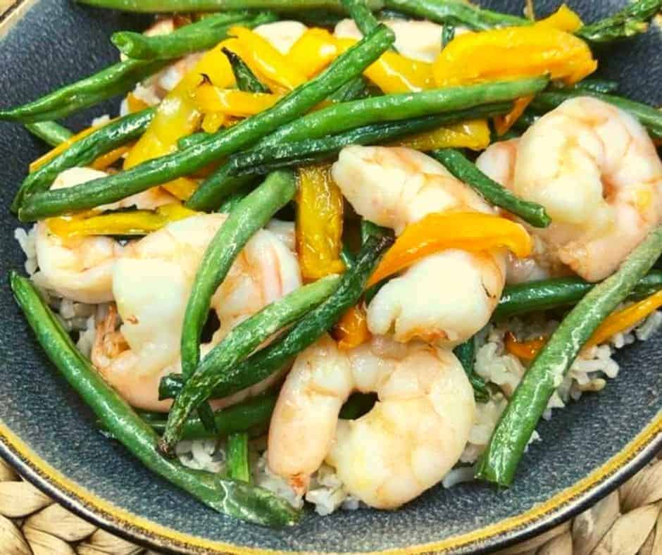 Air Fryer Thai Basil Shrimp Stir-Fry