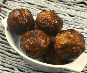 Air Fryer BBQ Meatballs